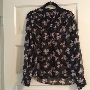Kate Spade Silk Floral Blouse - worn once
